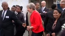 Theresa May dances with Hatrið mun Sigra