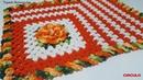 Tapete Retangular/55x37cm/Bico Entrelaçado/Diy/Croche