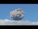 На вулкане Эбеко зафиксирован пепловый выброс