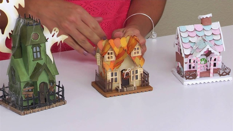 Making DIY Fall Holiday Home Décor Projects with Sizzix Tim Holtz Village Dwelling Dies
