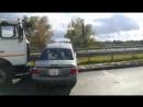 ДТП с участием грузовика в Бресте на варшавском путепроводе