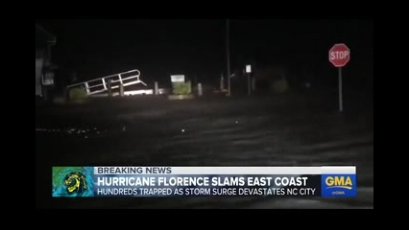 Hurricane Florence batters Carolina coast as it makes landfall oNiaO 1GOhI Segment 0 mpeg4