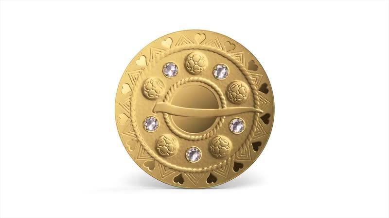 Латвийская золотая монета-Золотые сакты. Пузырчатая сакта