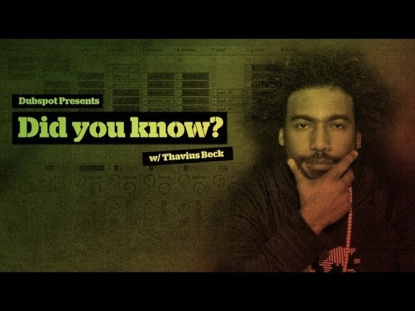 'Did you Know?' Pt 1 - Ableton Live Tips w/ Dubspot's Thavius Beck: Ping Pong as Tape Delay
