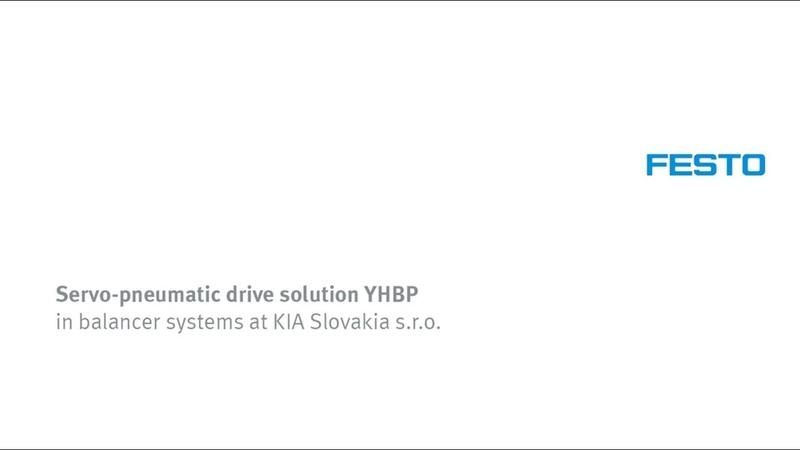 Servo-pneumatic drive solution YHBP in balancer systems at KIA Motors