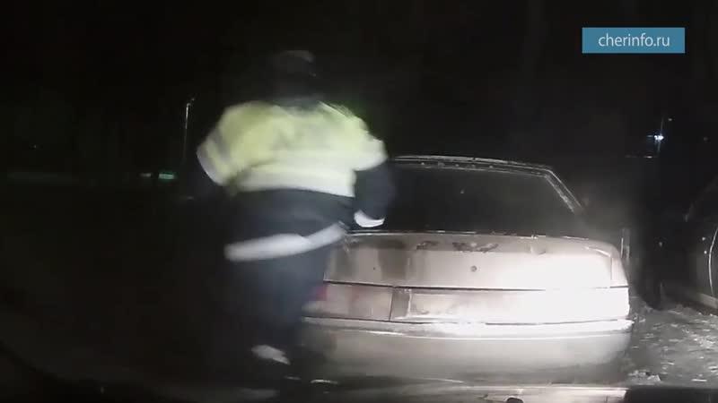 Задержание пьяного водителя в Вологде