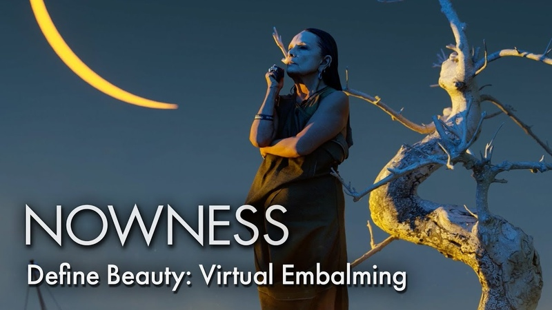 Define Beauty Virtual Embalming starring Isabelle Huppert, Kim Peers and Michèle Lamy