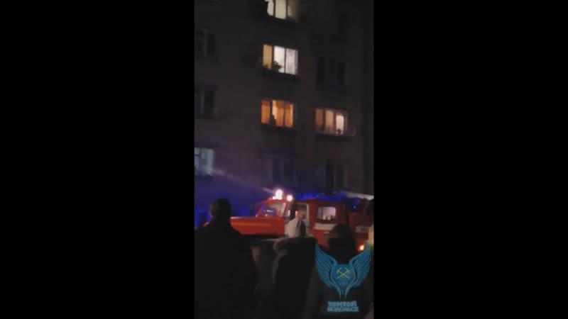 Пожар на Заводской д.16 мкр.Климовск