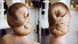 Simple Formal Cute Hair Do Tutorial Elegant red carpet Low bun Idea