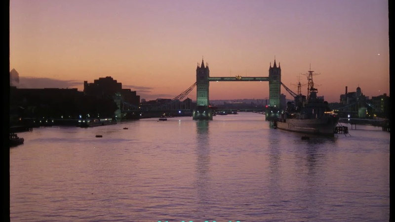 London Skyline at Dawn, 1990s UK from 35mm