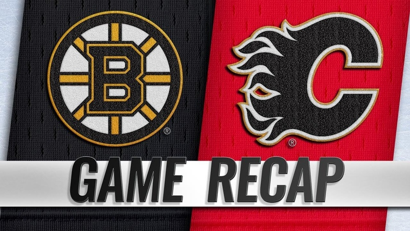 NHL China Games Bruins survive Flames' late push for 4 3 shootout win