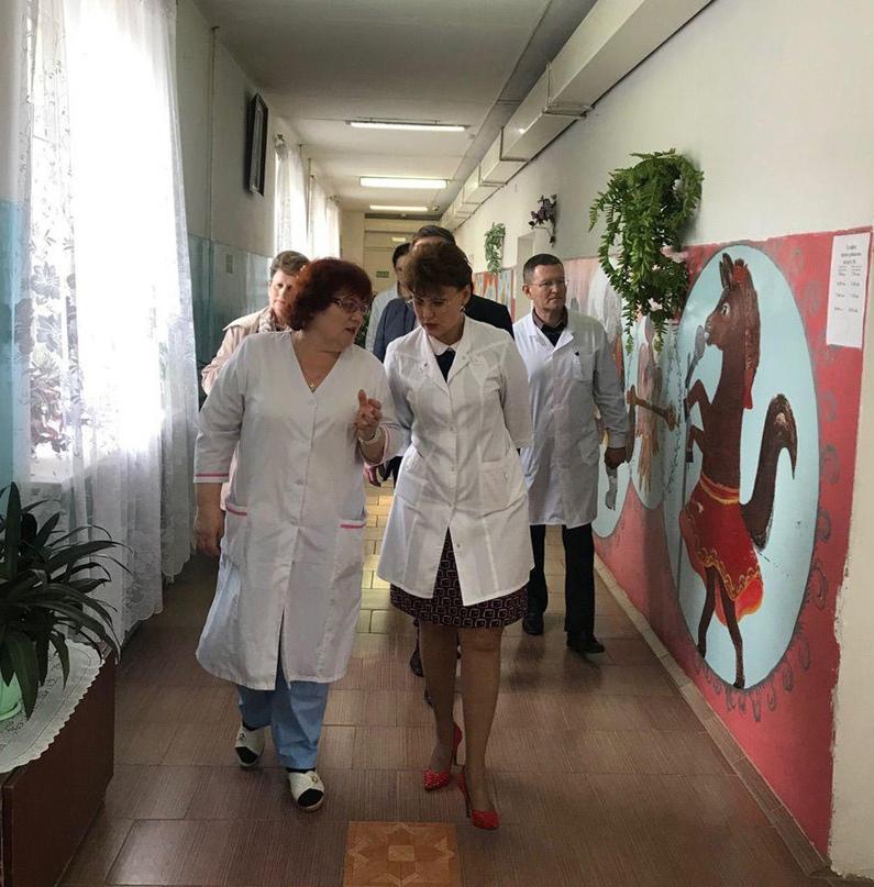 Ирина Хмелевская проинспектировала психиатрическую больницу в Искре
