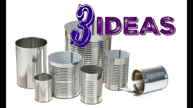 3 IDEAS Para Reciclar y Decorar con Latas Best Out Waste