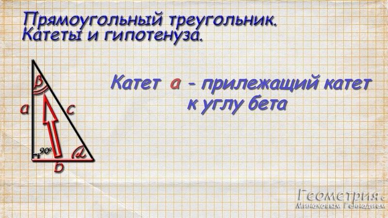 Что такое синус косинус и тангенс угла в прямоугольном треугольнике Часть 1