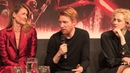Domhnall Gleeson on General Hux and Carrie Fisher - Star Wars: The Last Jedi - Press Conference