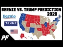 Bernie Sanders vs. Donald Trump 2020 Map Prediction - 2020 Electoral Map Projection