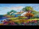 Beach Landscape Painting Gouache Color By Yasser Fayad