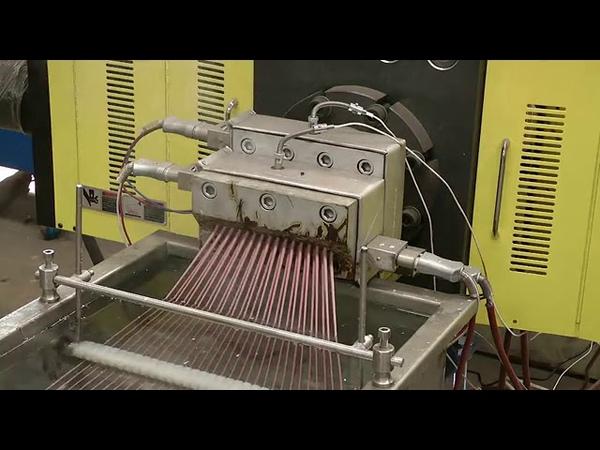 Rigid plastic strand pelletizing line rigid flakes noodle pelletizing line