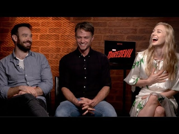 DAREDEVIL Season 3 interviews - Charlie Cox, Woll, D'Onofrio, Bethel, Ali, Whalley, Henson