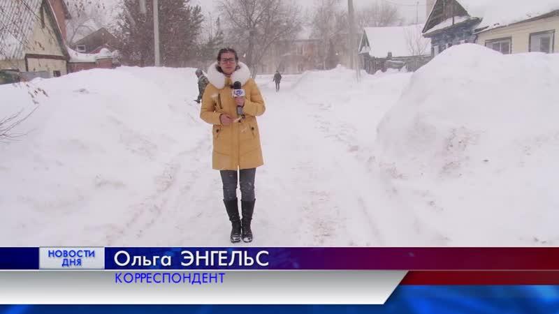 Борьба со снегопадом в Оренбуржье