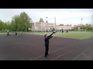 Тренировка на улице, с гирей 16кг. Гиревое жонглирование. Леонид Синцов