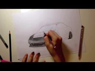 Как нарисовать машину быстро honda accord cl7