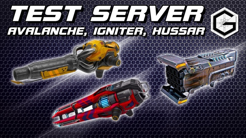 War Robots Test Server Avalanche Igniter Hussar Средние Драгуны и Огнемет и Тяжелый тулумбас