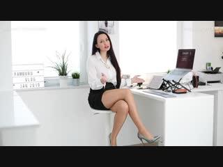 Sheer tights, satin skirt, high heels - hotel experience ¦ hamburg vlog
