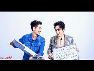 (RUS SUB) Чжу И Лун и Бай Ю - интервью для Bazaar