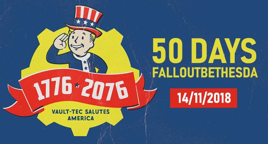 До выхода Fallout76 50 дней!