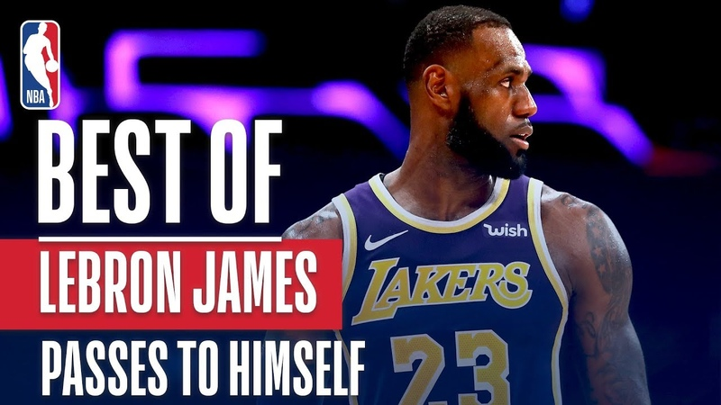 Best LeBron James Passes To Himself NBANews NBA Lakers LeBronJames