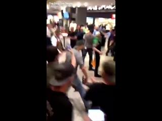 Драки в Лас-Вегасе после боя Нурмагомедов - Макгрегор (UFC 229)