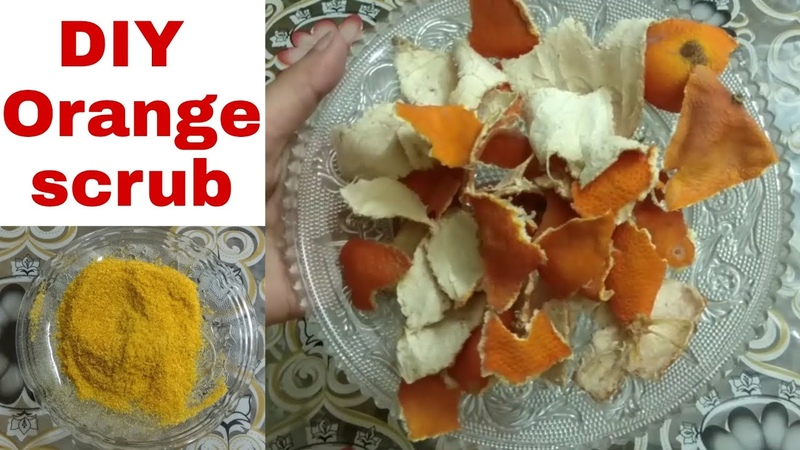 DIY skin brightening with orange face Scrub and face pack | get clear glowing flawless skin