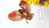 Бабочка из бисера. Брошь бабочка. Бархатная брошь. ЧАСТЬ 1 Мастер класс от Натали Амаполы