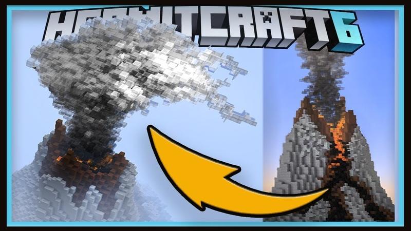 Hermitcraft Season 6: 10,000 GLASS BLOCK Volcanic Eruption! (Minecraft 1.13.1 survival Ep.17)