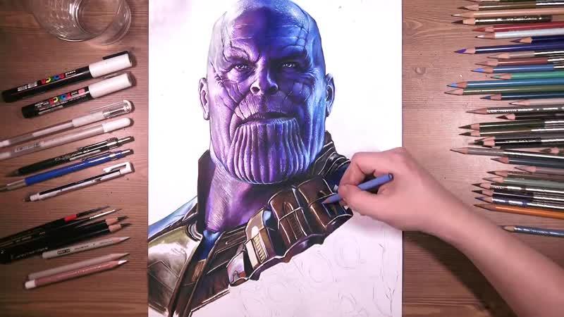 Танос карандашами [Timelapse]