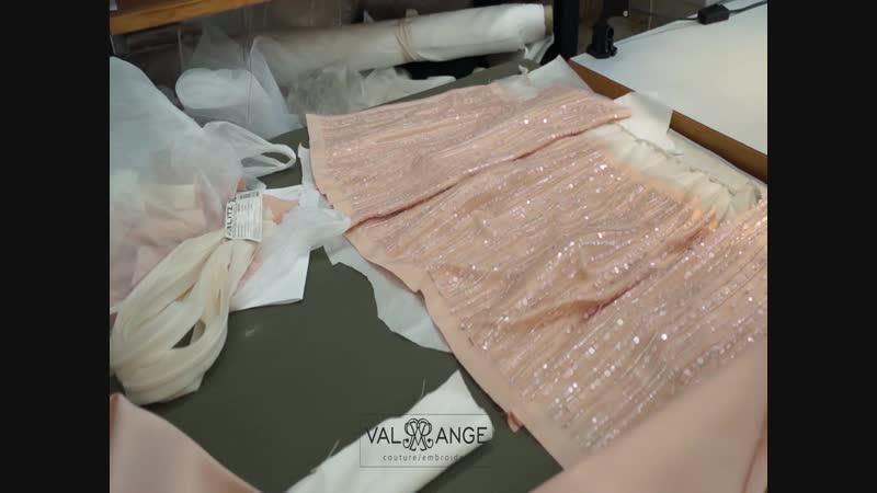 Создание вечернего платья Ручная работа Часть 2 Ателье Valange