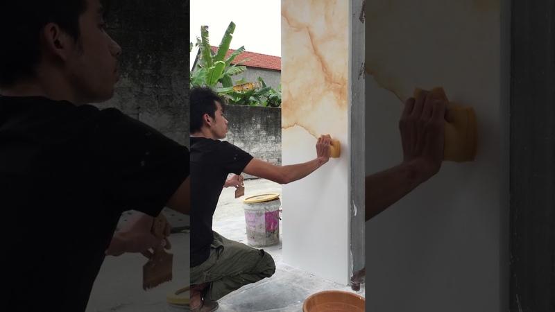 Cách làm đá cẩm thạch theo lối đơn sắc