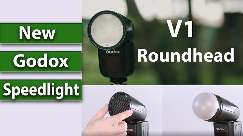 The new round headed speedlight V1 by Godox