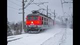 Электровоз ЧС6-025 с поездом №014 Санкт-Петербург - Новокузнецк
