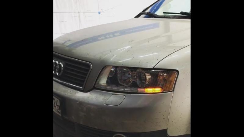 Audi A4 B6💥 ▫️ замена штатных выгоревших галогеновых линз на новые ксеноновые би линзы ▫️ установка дневного ходового огня с ф