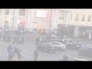 Камера наблюдения сняла как автобус сбил женщину возле вокзала в Екатеринбурге