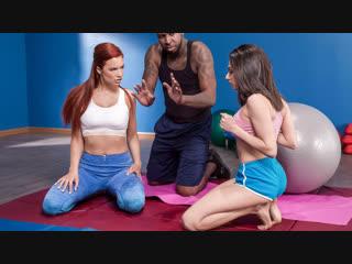 Darcie dolce, jayden cole (pilates for hotties / 20.01.2019) [athletic, bald pussy, big naturals, big tits, brunette, caucasian]