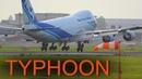 Narita Typhoon Crosswind Arrivals