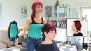 Extreme Pixie Short Haircut Makeover by Anja Herrig red hair dye