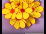 Объёмная открытка с распускающимися цветами