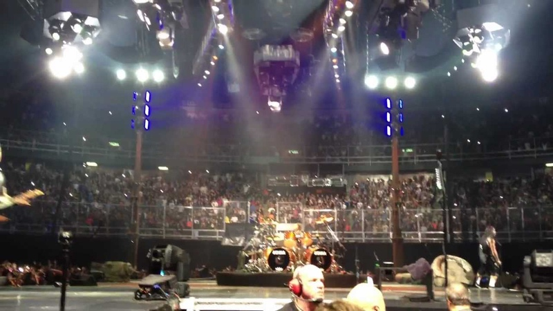 Metallica Live Mexico City 2012 Enter Sandman With Stage Collapse Chaos Full Snake Pit Vid
