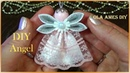 Ангел из лент/Christmas Kanzashi Angel Tutorial/DIY Satin Ribbon Angel/Anjo da fita/Ola ameS DIY