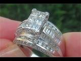 Certified VS2G Natural Diamond 14k White Gold Engagement Anniversary Wedding Ring - C894