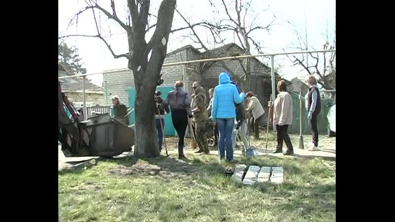 Жители Старобешевского района приняли участие в республиканском субботнике